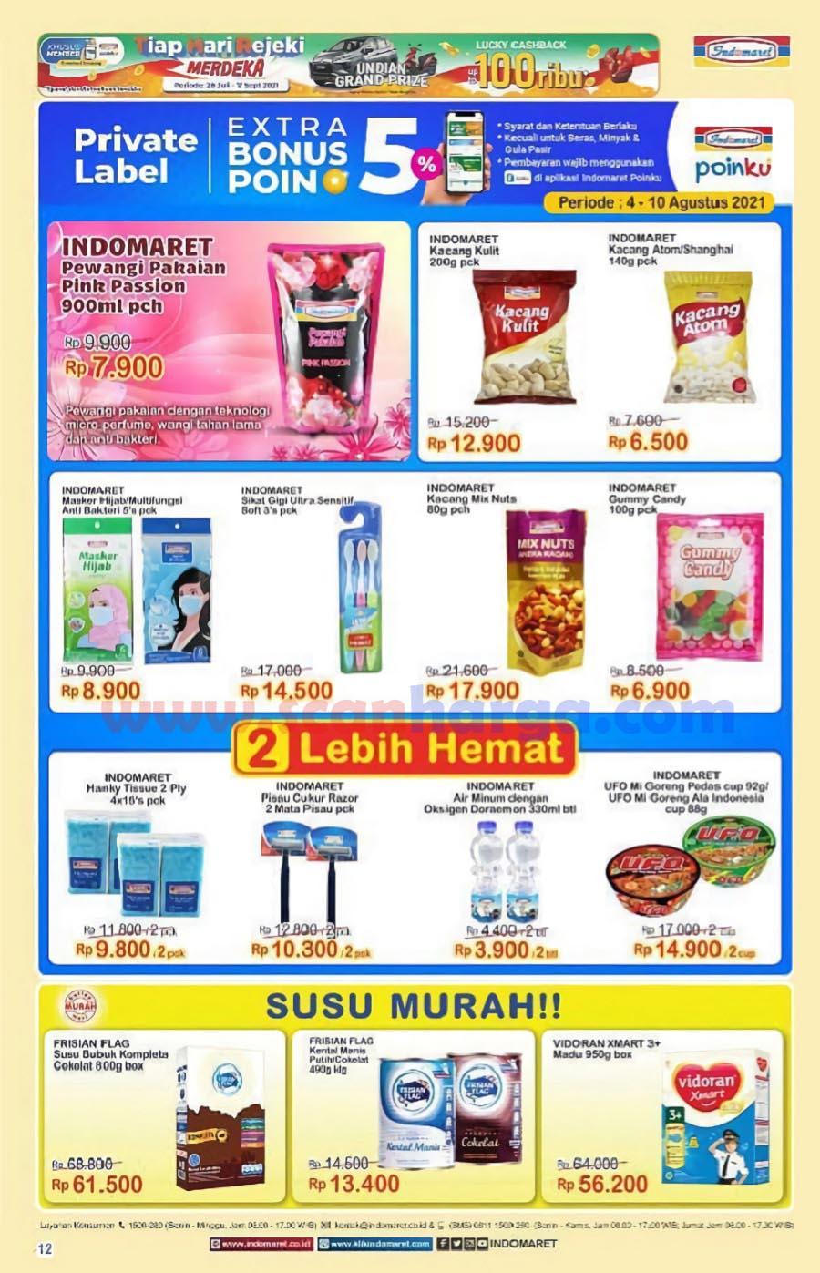 Katalog Indomaret Promo Terbaru 4 - 10 Agustus 2021 12