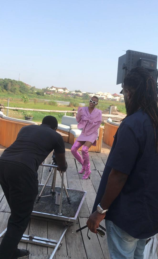 """Behind The Scene Pictures From Maureen's """"Mind Your Business"""" Video Making 