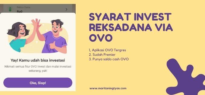 persyaratan daftar OVO | Invest