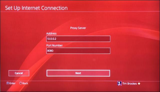 قم بإعداد PS4 للاستخدام مع Proxy Server