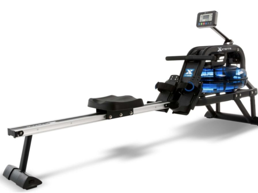 The rower machine is made of strong steel with an aluminum rail, solid and tough.