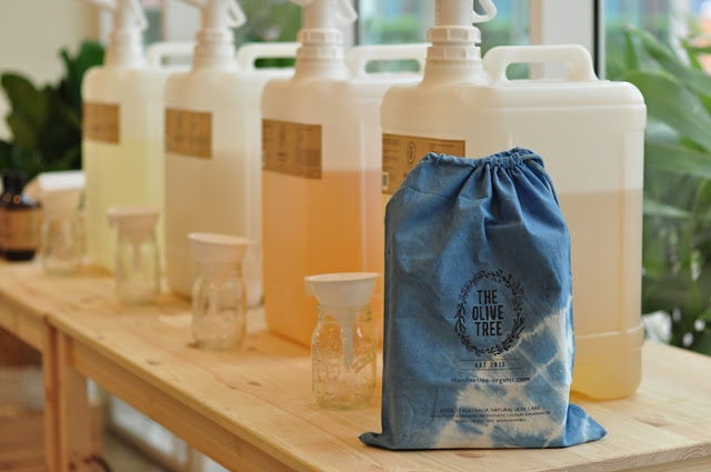 The Olive Tree, Package Free Store, Sunway Nexis, Kota Damansara, ZeroWaste Community, reuse, refill, Natural Indigo, Hand-Dyed Cotton Bag, #PackageFree, lifestyle, beauty