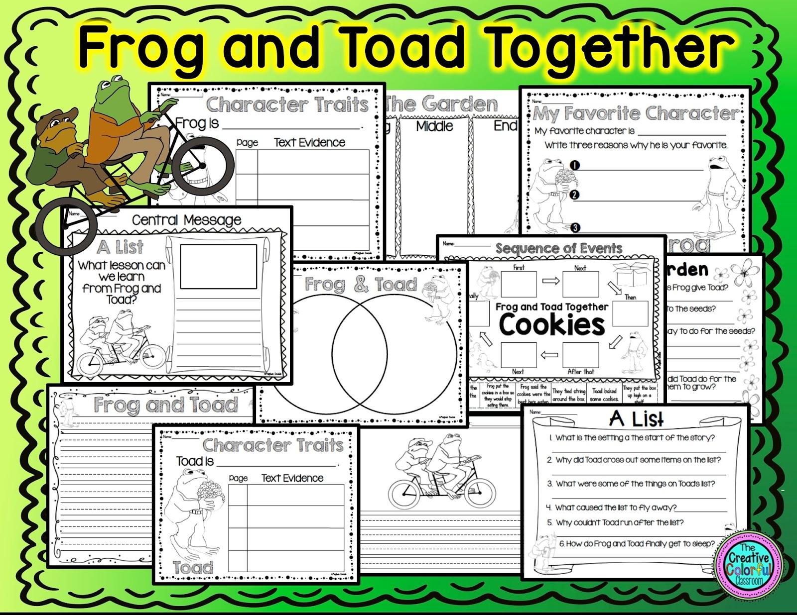 Frog Vs Toad Worksheet