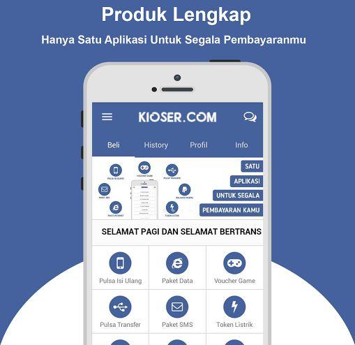 KIOSER Aplikasi Android Jualan Pulsa Terbaik dan Termurah