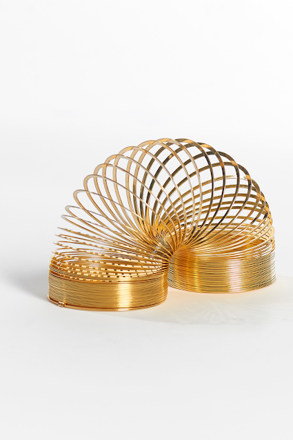 14K Gold Slinky Toy