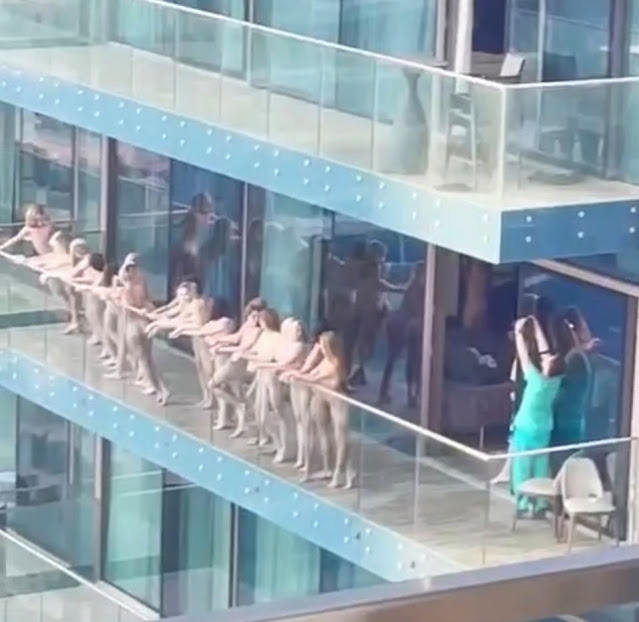 The 40 women arrested for posing naked on a Dubai balcony are all models in their teens and 20s from ex-Soviet states who are each facing six months in prison and £1,000 fines