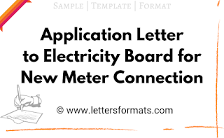 application format for new electricity meter connection