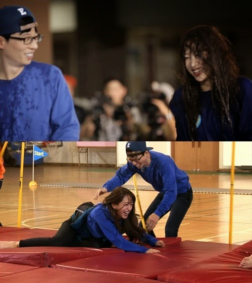 Hani of Running Man with her partner Yoo Jae Suk