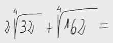 15.Suma de radicales - raíces cuartas