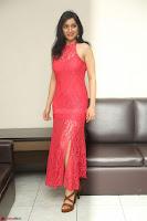 Sakshi Kakkar in Red Legsplit Sleeveless Gown at Dare movie Press meet ~  Exclusive 089.JPG
