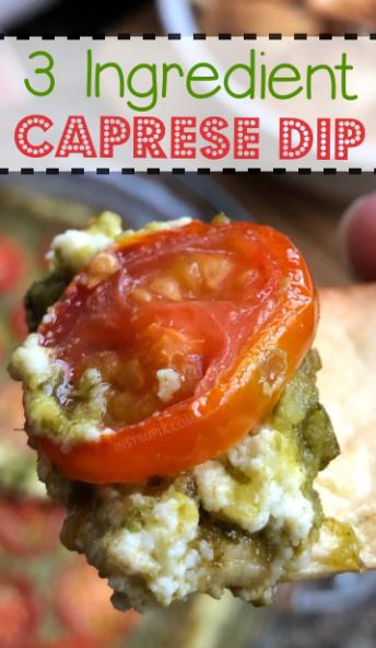 Easy 3 Ingredient Warm Caprese Dip