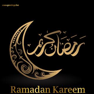 Ramadan kareem 2019 Crescent moon Eid Mubarak Images HD Calligraphy