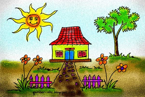 Gambar Mewarnai Rumah Sederhana Contoh Gambar Mewarnai