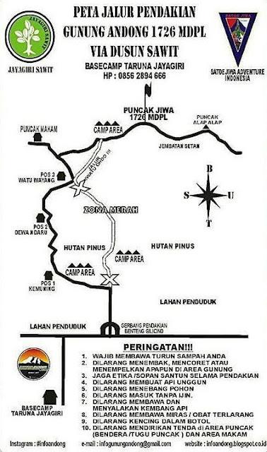 Jalur Pendakian Gunung Andong via Dusun Sawit