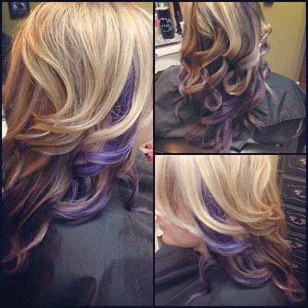 36 interesting purple highlights hair color ideas hairstylo purple highlights 13 pmusecretfo Image collections