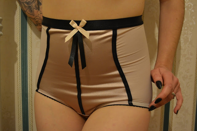 House of Satin Vintage Style Lingerie Tea Rose Collection Bridgit Full Briefs