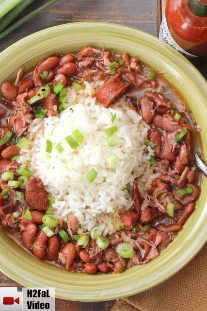 "This recipe for New Orleans Red Beans and Rice is one of our all-time favorite Cajun dishes. So deep in flavor and has just enough kick to make your eyes light up and your tummy say ""Howdy!"" 100% Loon Approved!"