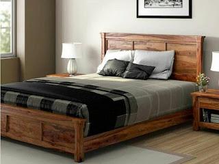 Model dipan kayu sederhana