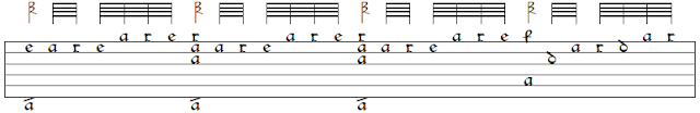 One bar of Dowland's Fancy on which this transcription is based