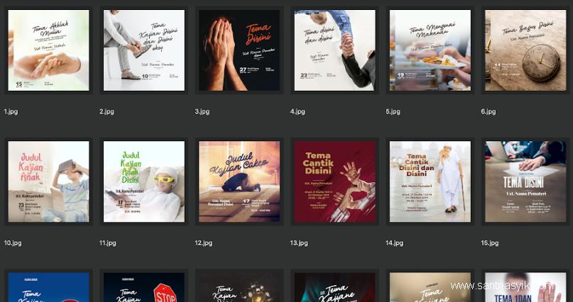 Download 200++ Desain Dakwah Keren GRATIS Tinggal Edit - Full Format(Vector, PSD, Photos)