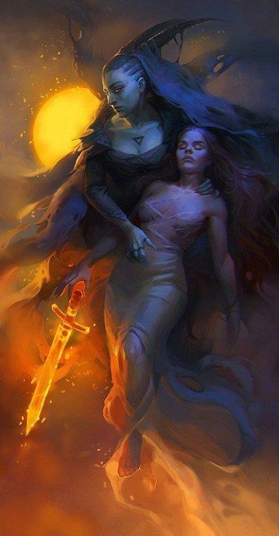 Veronika Kozlova artstation ilustrações fantasia terror sombrio arte