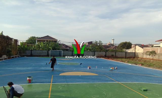 Jasa Pengecatan Lapangan Basket Voli Futsal Badminton Tenis
