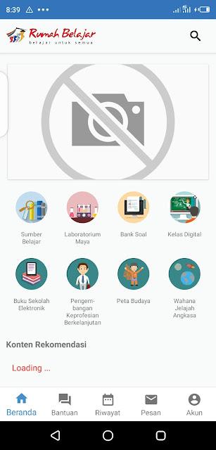 tampilan aplikasi rumah belajar kemdikbud