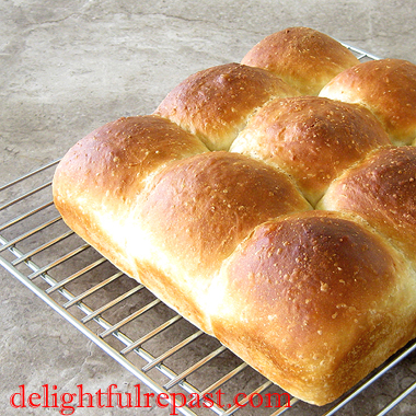 Quick and Easy Toaster Oven (or Regular Oven) Pull-Apart Dinner Rolls / www.delightfulrepast.com