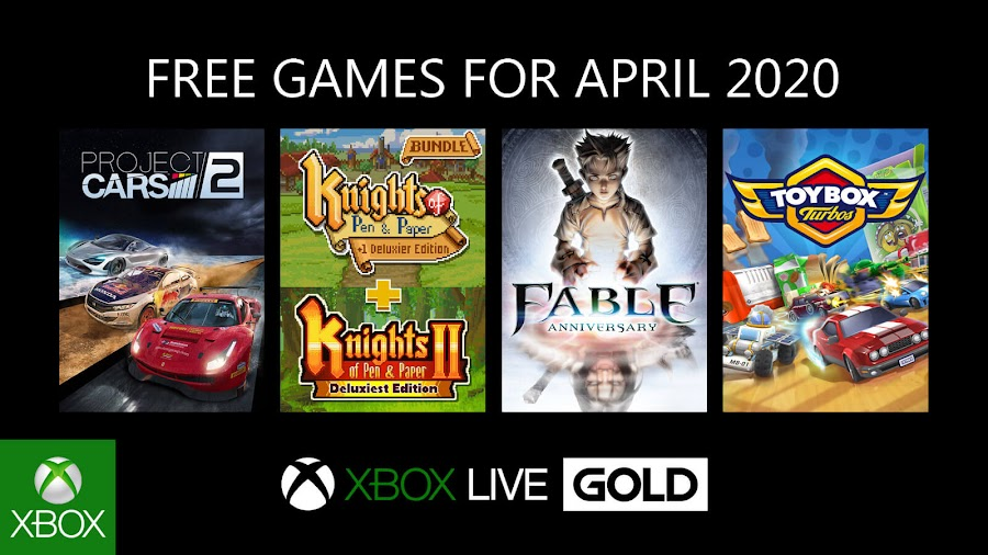 xbox live gold free games april 2020 project cars 2 knights of pen and paper bundle fable anniversary toybox turbos xb1