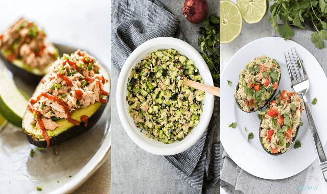 Lunch Recipe: Healthy Tuna Salad Stuffed Avocado