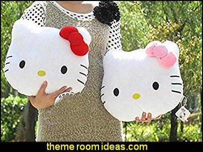 Hello Kitty Head Shaped Cushion Kitty Face Throw Pillow Toys
