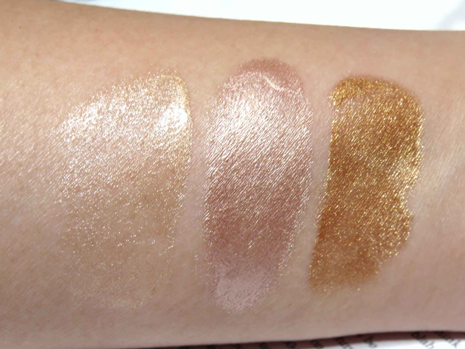 Bali Body Highlighter Sticks Swatches