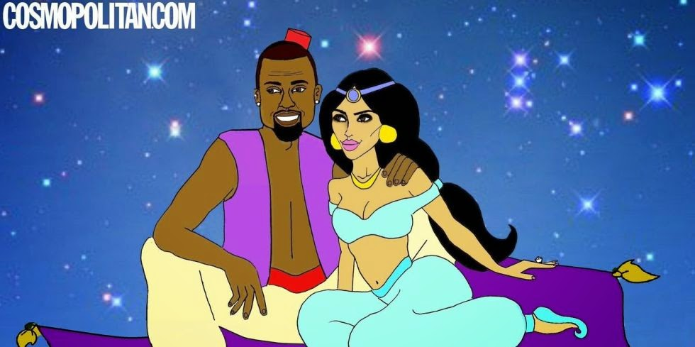 nrm 1407429233 sbrcajcrsxtlvtzdw0ratzixaoayjhuvovewrrc1sws Hilarious Illustrations of Kim and Kanye West as Disney Couples