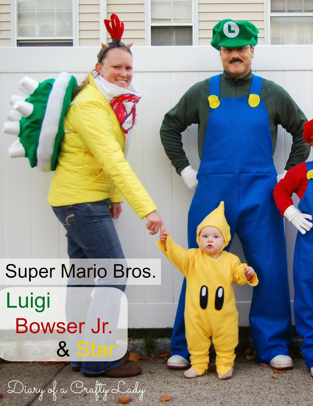 Diary of a crafty lady luigi bowser jr star super mario i did it in time for our church halloween party i finished our family super mario bros costumes solutioingenieria Images