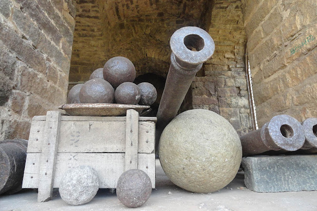 Canons at Golconda Fort