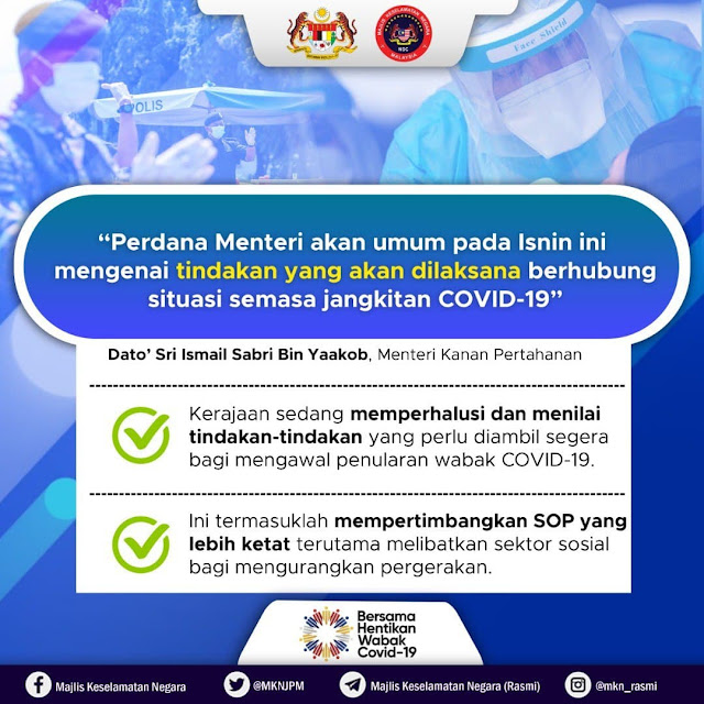 Perdana Menteri Akan Umumkan Sesuai Pada Isnin ini - Datuk Seri Ismail Sabri