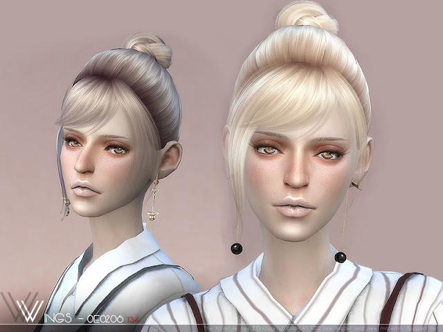 Женские прически с заколотыми волосами для The Sims 4 со ссылками на скачивание