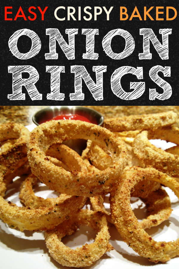 A DELICIOUS recipe for crispy baked onion rings that are full of flavor and almost as good as the greasy originals at your favorite diner!