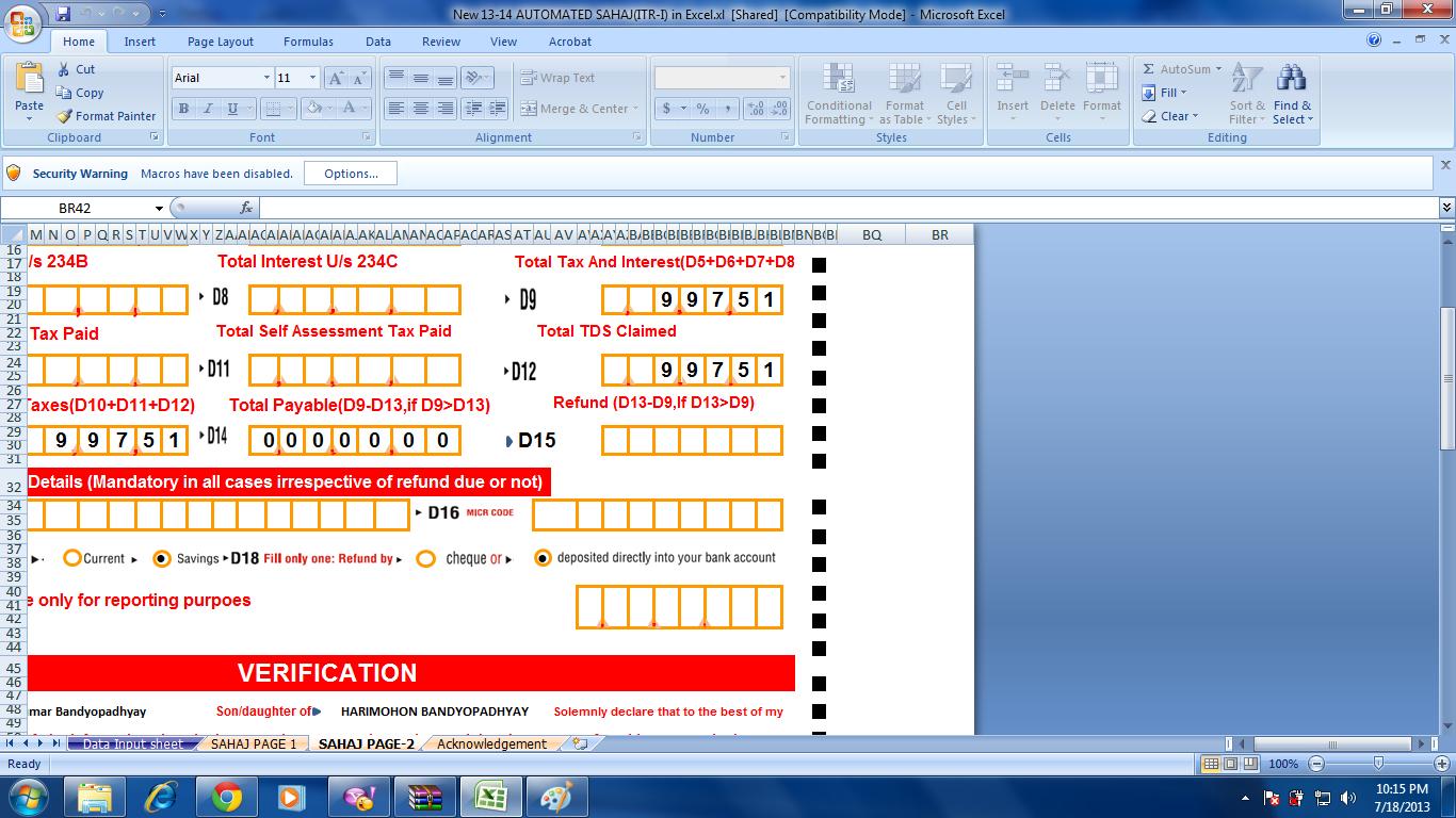 Itr sahaj form 2013 14 pdf converter