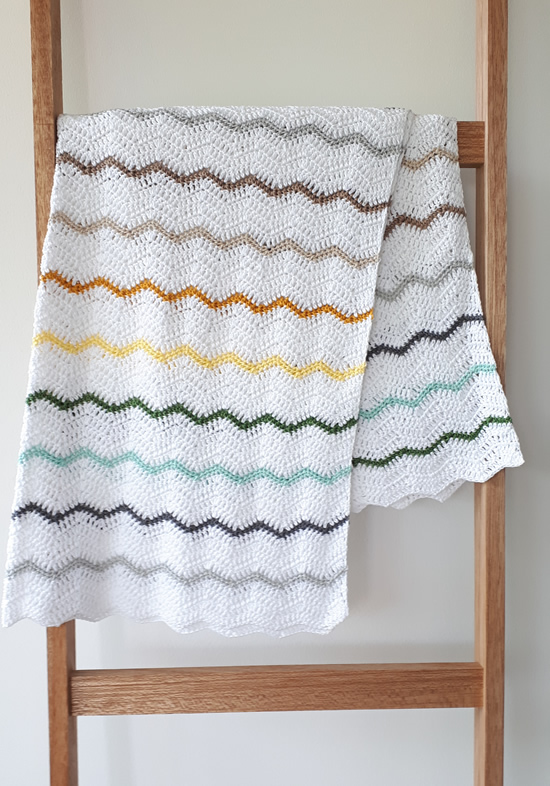 Crochet zig zag blanket, crochet chevron blanket | Happy in Red