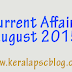 Current Affairs August 2015 PDF