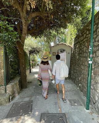 Caterina Balivo con il marito Brera a Capri 3 Luglio