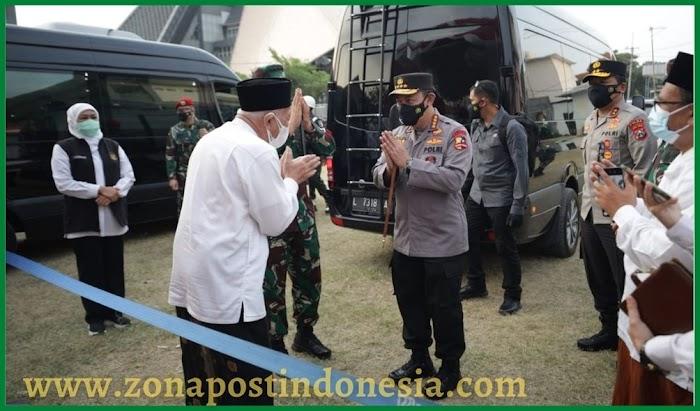 Forkopimda Jatim Dampingi Panglima TNI dan Kapolri Kunjungi Vaksinasi Pondok Pesantren Tebuireng Jombang