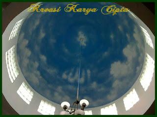lukis-awan-kubah-masjid-dalam