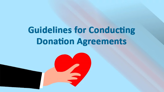 Guidelines for Conducting Donation Agreements