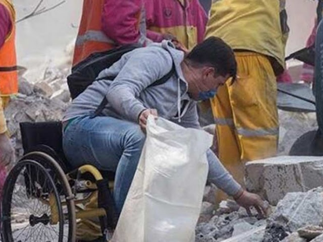 Él es Edy, el héroe en silla de ruedas que impactó al país (VIDEO)