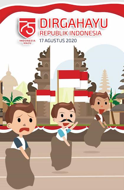 gambar ucapan  75 indonesia 2020