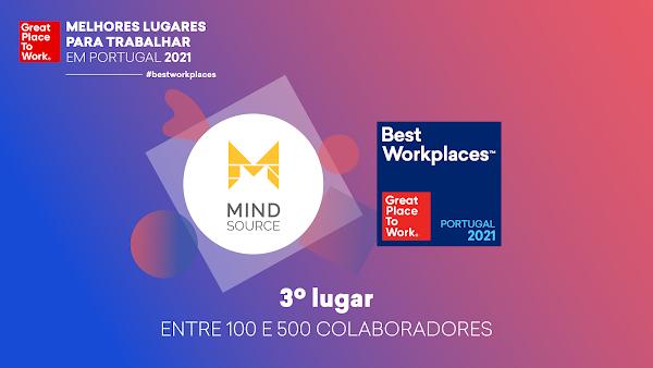 "Mind Source recebe prémio ""Great Place to Work"""