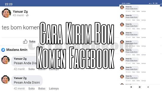 Cara Mudah Ngirim Bom Komentar di Facebook