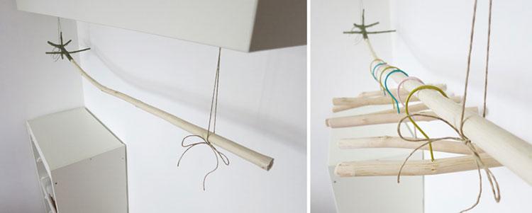 Decoraci n estilo r stico con ramas y troncos de rbol - Ramas de arbol para decorar ...